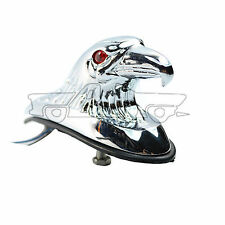 Chrome Eagle Head Ornament Statue For Motorcycle Front Fender Car Bonnet