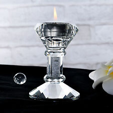 CRYSTAL CANDLESTICKS Candle Holder Pillar Holders Wedding Party Home Decor