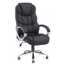 High Back PU Leather Executive Computer Desk Ergonomic Task Office Chair Black