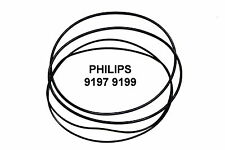 COURROIES SET PHILIPS 9197 9199 MAGNETOPHONE A BANDE EXTRA FORT NEUF DE FABRIQUE