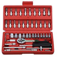 46pcs in Wrench Socket Set Hardwares for Car Boat Motorcycle Repairing Tools Kit