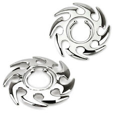 Non Piercing Clip On Tribal Swirl / Blade Desing Nipple Ring / Shield