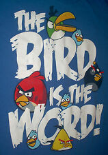 """""""The Bird is the word"""" angry birds t-shirt Size: XL Color: Blue Free Shipping!!!"""