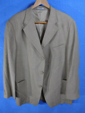 Bachrach 5917 Men's Tan/Beig Silk/Wool Tweed 3-Bttn Spt Jkt Sz 48 Good+
