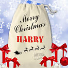 Santa Sack Personalised with Name - Father Christmas Gift Bag Presents Stocking