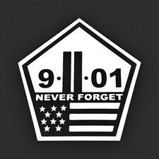 9/11 Never Forget World Trade Center Pentagon USA American Pride Car Truck Decal