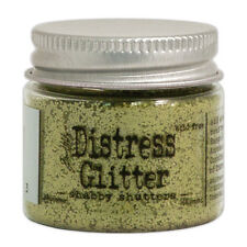 Tim Holtz   Distress Glitter 18gm jar  SHABBY SHUTTERS  Green