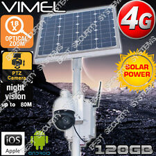 4G Security Camera Solar Farm Farm Home PTZ 18XOptical Zoom GSM Live View 3G