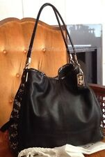 Coach 28604 Madison Phoebe Black White Two Tone Python Leather Satchel Hobo $695