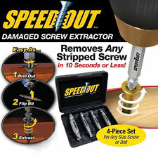 4PCS Remover Speed Out Set Damaged Screw Extractor Bolt Bits Guide Tool Drill #S