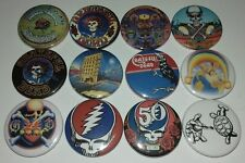 12 Grateful Dead button badges 25mm Deadhead Touch of Grey Truckin Box of Rain