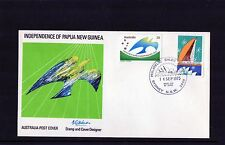 1975 Papua New Guinea Independence Set Of 2 FDC, Mint Condition