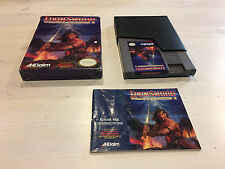 IronSword: Wizards & Warriors II (Nintendo NES) Complete Cleaned and Tested!!