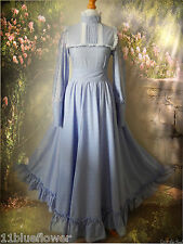 Laura Ashley Dress Vintage Victorian 70's 60's Boho Prairie Carno 6 8 34 36 2 4
