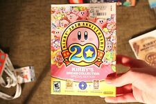 Kirby's Dream Collection 20th aniversary Wii Cib with inserts