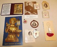 Eight 2nd/3rd Class Relics Padre Pio SS Anthony Julie Billart Frances Schervier