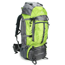 80L Sport  Military Travel Hiking Camping Luggage Backpack Green hot new Men big