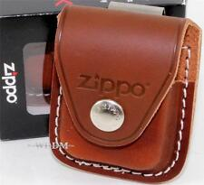 Zippo Brown Leather Lighter Pouch/Case/Holder w/Belt/Boot Clip Made In U.S.A.