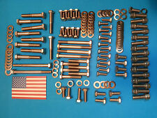 Small Block Chev Full Stainless engine Bolt Kit. Replaces arp SBC 350 383 400