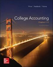 College Accounting (Chapters 1-13), Farina, Michael, Haddock, M. David, Price, J