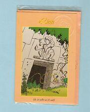 BATEM  carte double MARSUPILAMI en TBE++  de 1996 Zodiaque LION   RARE