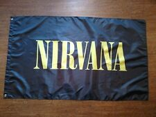 NIRVANA FLAG BANNER 3X5FT BAND MUSIC RADIO ROCK 90S SMELLS LIKE TEEN SPIRIT