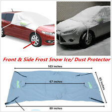 Car Windshield+Side Rearview Mirror Snow Ice Frost Sun Shade Protect Tarp Cover