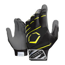 Evoshield 2.0 Protective Youth Baseball Batting Gloves, Black/Neon Yellow, Large