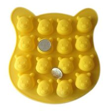 Winnie Pooh Bear Silicone Bakeware Biscuit Candy Chocolate Jelly Ice Soap Mold