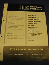 Atlas Fireproof Door Company 1954 catalog Asbestos