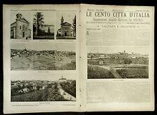 1901 = LE CENTO CITTA D'ITALIA = VALENZA (AL) = PIEMONTE  ITALIA.ETNA.SONZOGNO