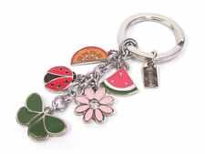 NEW Coach Rare Summer Mix Butterfly Ladybug Flower Watermelon Key Chain Ring Fob
