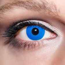 Blaue Kontaktlinsen Vampiraugen Fun farbige Blau Motivlinsen +Lösung & Box;K519K