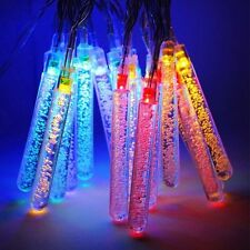 20x Icicle Bubble Multi-color LED Solar Power Garden Hanging String Lights