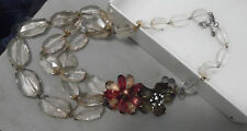 LOFT BEAUTIFUL LUCITE FLORAL DESIGN NECKLACE IN ORIG. BOX