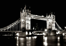 B & W Print Of Tower Bridge London. Cityscape Art & Photography  Poster Picture
