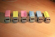 set 6 six VERY RARE vintage Plastic Soviet Toy Cars USSR