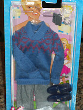 2011 KEN FASHIONISTAS FASHION BLUE SWEATER & CORDUROY PANTS  #W3162!! BARBIE
