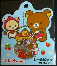 Vintage RARE San-x Rilakkuma 2009 Stickers Sack Sticker Flakes Stationery A
