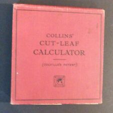 Collins' Cut-Leaf Calculator - Colville's System - hb 1920s?