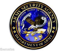 """ARMY SECURITY AGENCY  ASA 4"""" BUMPER STICKER DECAL MADE IN USA"""