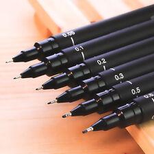 Hot 6pcs Micron Fine Line Pen 005 01 02 03 05 08 BRUSH Art Supplies Tools