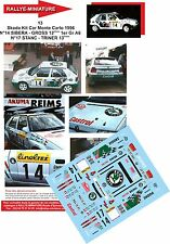Decals 1/43 réf 13 Skoda Kit Car Monte Carlo 1996 N°14 SIBERA - GROSS 12èmes