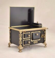 Black Tin Kitchen Stove dollhouse miniature JS118927  metal 1/12 scale Germany