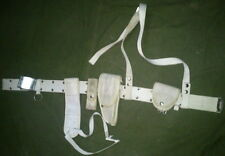 SERBIA MILITARY POLICE WHITE BELT WITH HOLSTER FOR M57 OR TT-33 FOUR POUCH