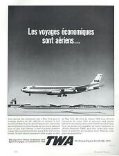 ▬► PUBLICITE ADVERTISING AD TRANS WORLD AIRLINES TWA travel voyage avion fly