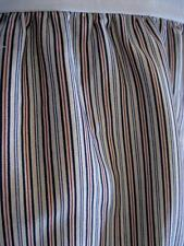 RALPH LAUREN Poet's Society Vertical Blue Stripe CAL KING Bedskirt Dust Ruffle