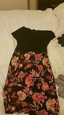 Black dress with floral design size 16