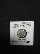1961-P (BU) Bright Brilliant Uncirculated Roosevelt Dime, 16th Year of Issue!