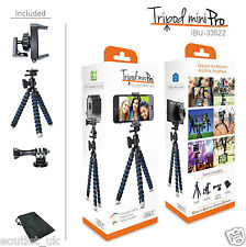 iBOLT Flexible Universal Flexible Tripod MiniPro For GoPro or Smartphone NEW